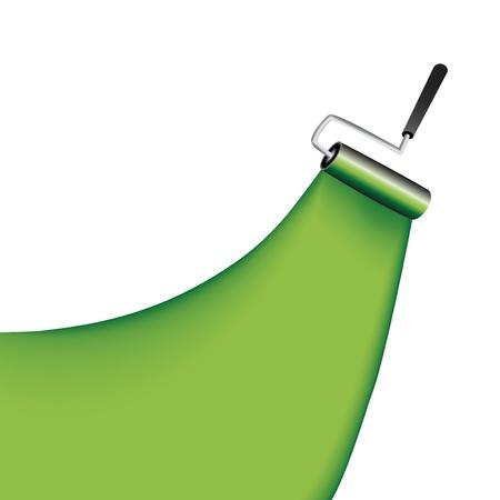 roller brush: Vector cepillo giratorio Vectores