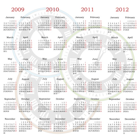 Vector calendar with clock background Stock Vector - 11445983