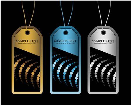 hang tag: Vector labels