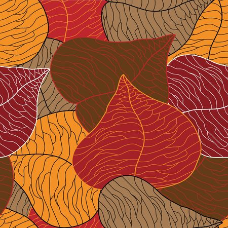 paper folding: Vector seamless leaves