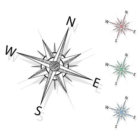 compas de dibujo: Vector de la brújula
