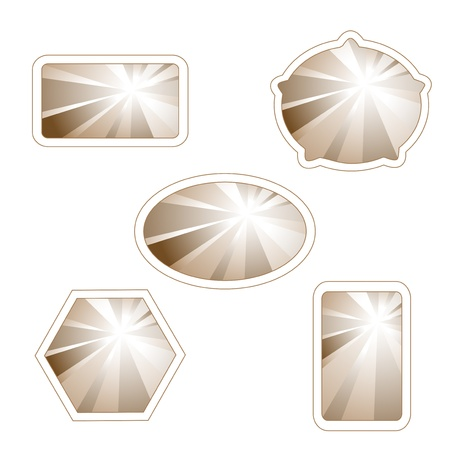 Vector labels with light rays Vector