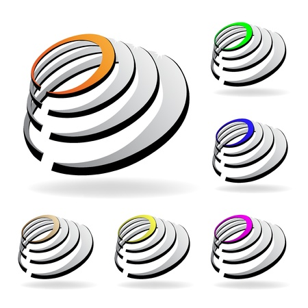 Vector shiny icons Vector