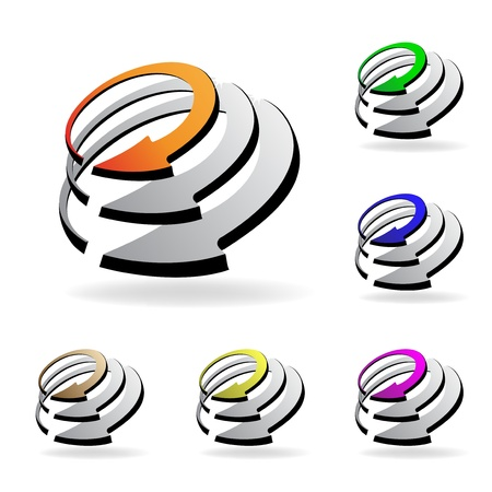 Vector shiny icons Vector