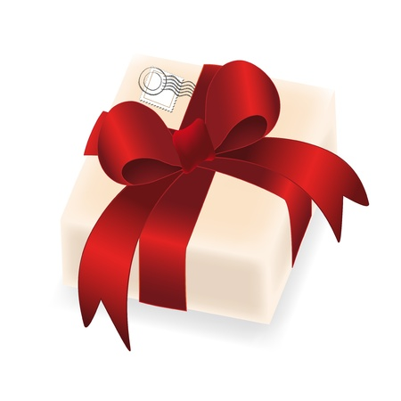 Vector gift with stamp Vector