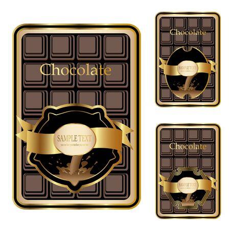 Vector chocolate labels Vector