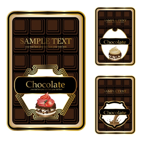Vector chocolate labels Stock Vector - 11446056