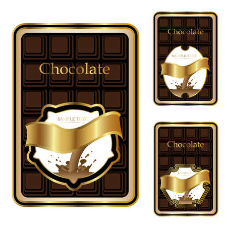 Vector chocolate labels Vector