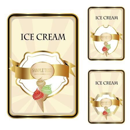 wafer: Vector ice cream labels