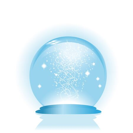 snow drops: Vector glass globe