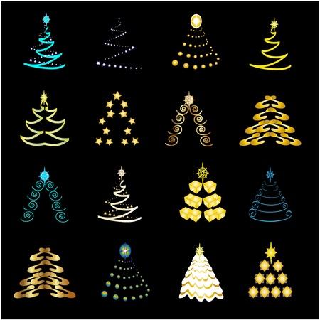 augur: Vector Christmas trees Illustration