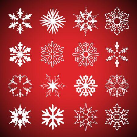 Vector set of snowflakes Vector