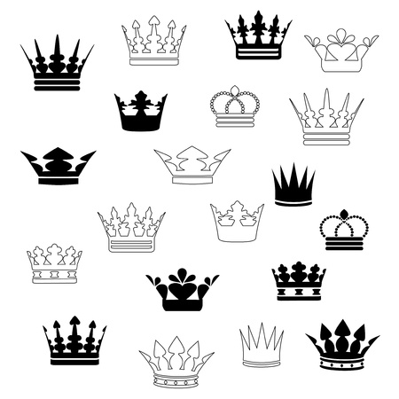 crown tattoo: Vector crowns Illustration