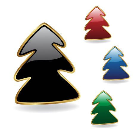 Vector Christmas trees Vector