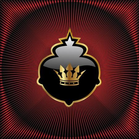 crown of light: Vector royal design Illustration