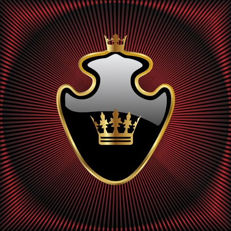 place to shine: Vector royal design Illustration