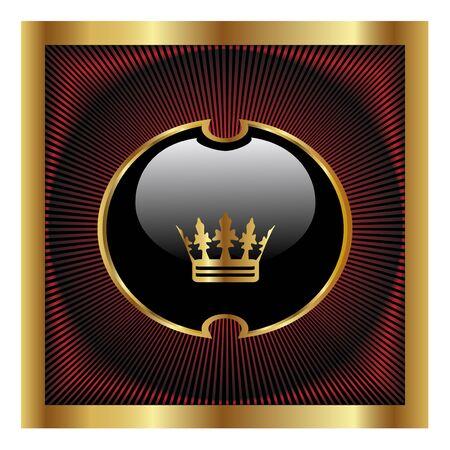 corona de rey: Vector de dise�o real