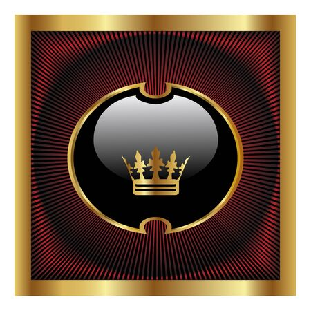 king crown: Vector royal design Illustration