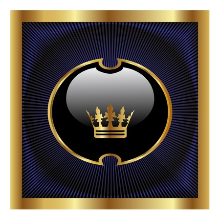 antiquity: Vector royal label