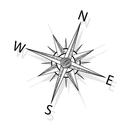 compass rose: Vector compass