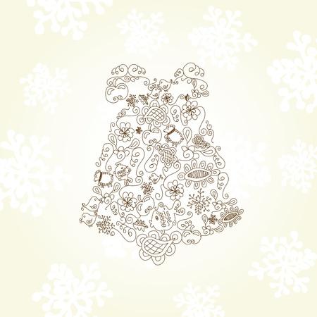 quarterfoil: Vector Christmas bell