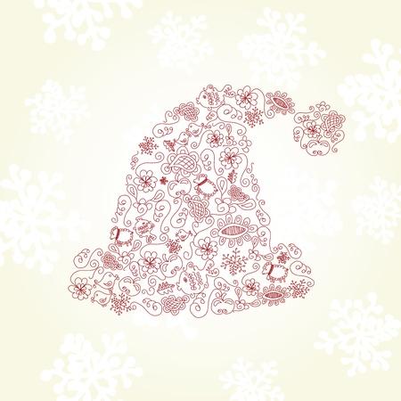 quarterfoil: Vector Santa hat