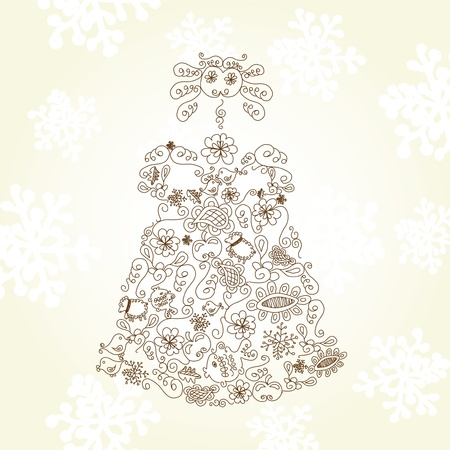 quarterfoil: Vector Christmas doll Illustration