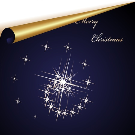 page turn: Vector Christmas sheet Illustration