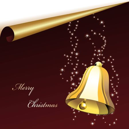 Vector christmas sheet with bell Stock Vector - 11469938