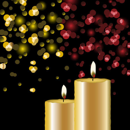 Vector lights background with candles Vector