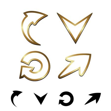 Vector gold arrows Stock Vector - 11469666