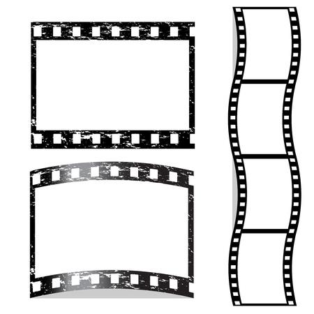 rollo pelicula: Vector rayado película