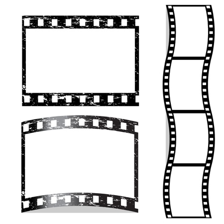 photo strip: Vector scratched film