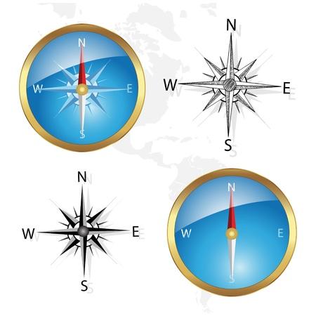compas de dibujo: Vector br�jula Vectores