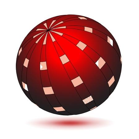 Vector red globe Vector