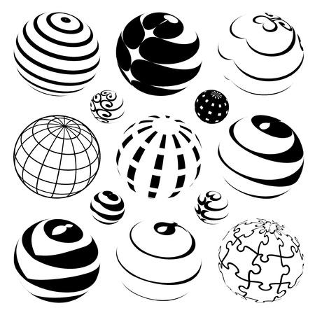 földgolyó: Vector gömbök