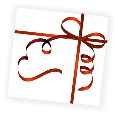 envelope decoration: Vector de la cinta roja Vectores