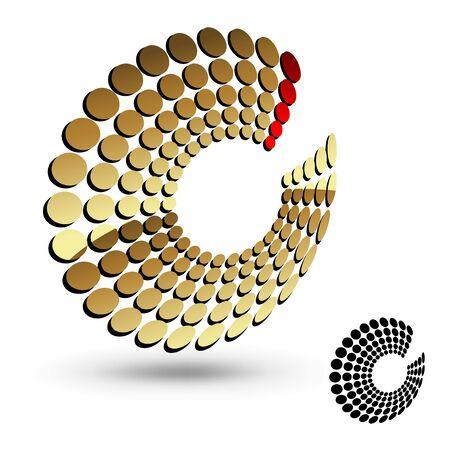 Vector 3D golden and black symbol Vector