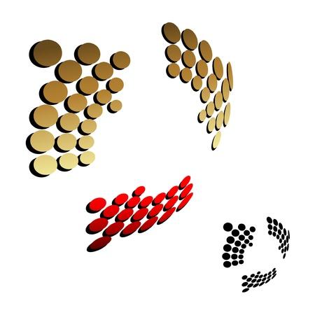 move arrow icon: Vector 3D golden and black arrow