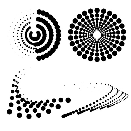 dimensional: Vector dotted symbols