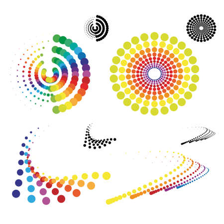 Vector dotted symbols Vector