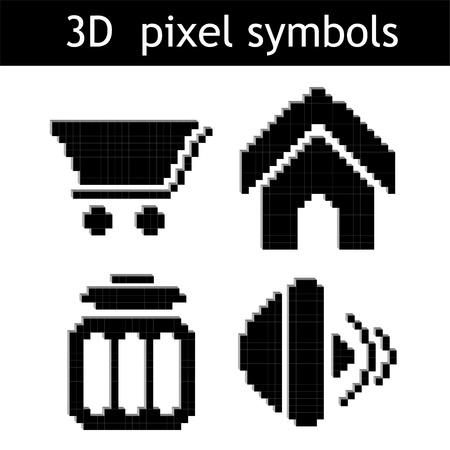 Vector pixel symbols Vector