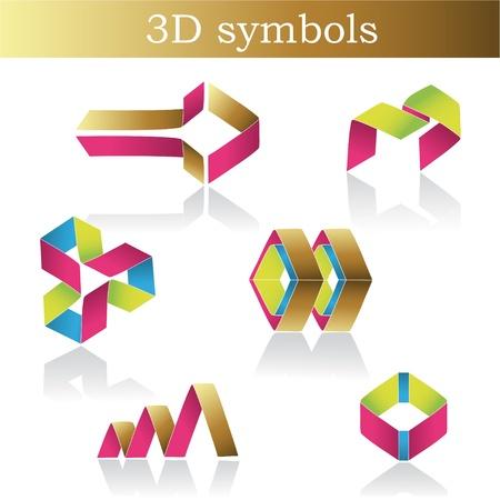 Symboles de couleur vecteur
