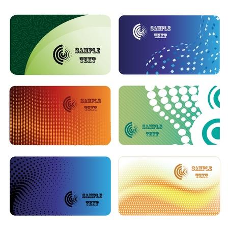 red and yellow card: Vector de la tarjeta de visita Vectores
