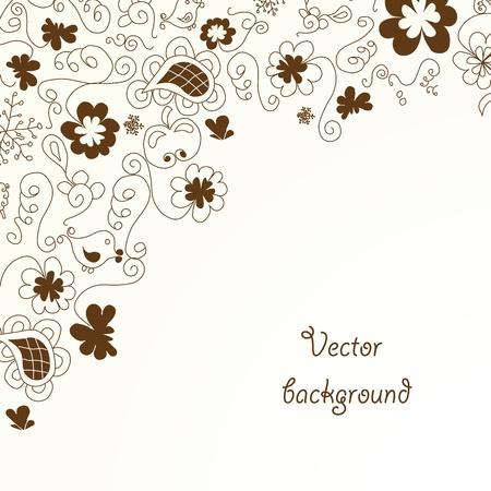quarterfoil: Vector floral background