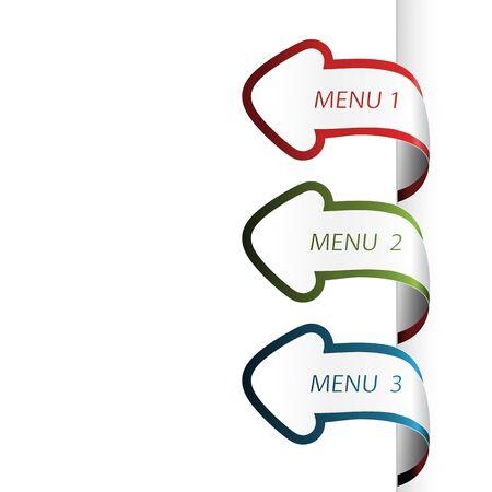 navigation object: Vector navigation arrows