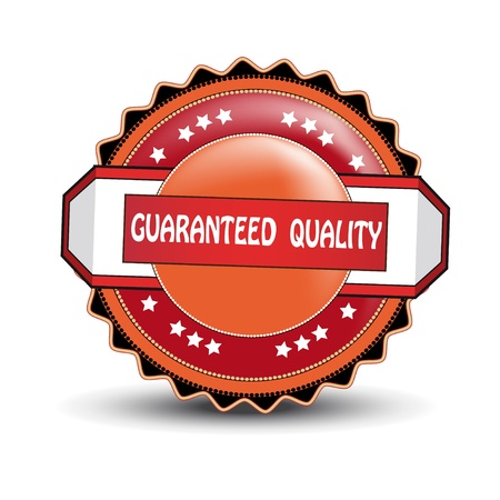Vector guaranteed quality label Vector