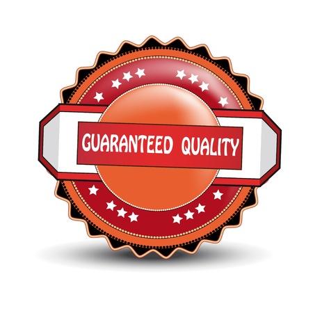 guaranteed: Vector guaranteed quality label