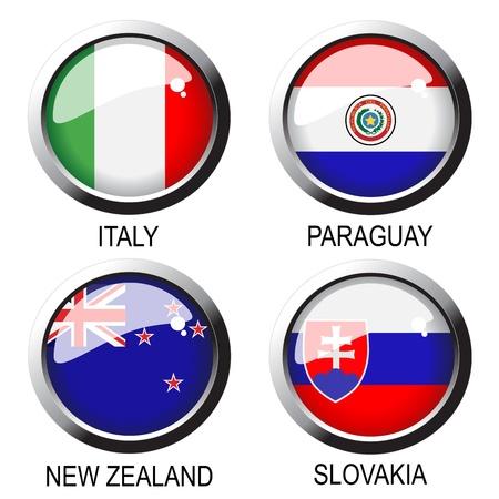 bandera de paraguay: Banderas de vectores Vectores