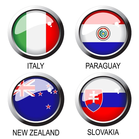paraguay: Vector flags  Illustration